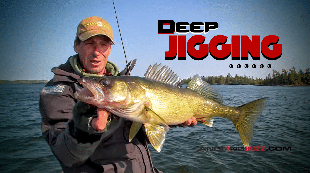 Deep jigging for fall walleye and smallmouth for Fall walleye fishing