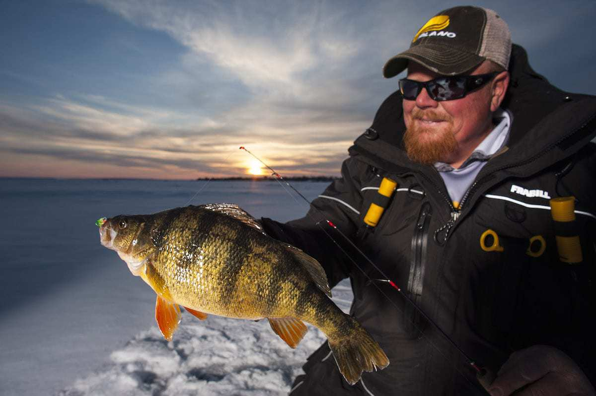 Ask the pros what is the best line for panfish through for Ice fishing perch