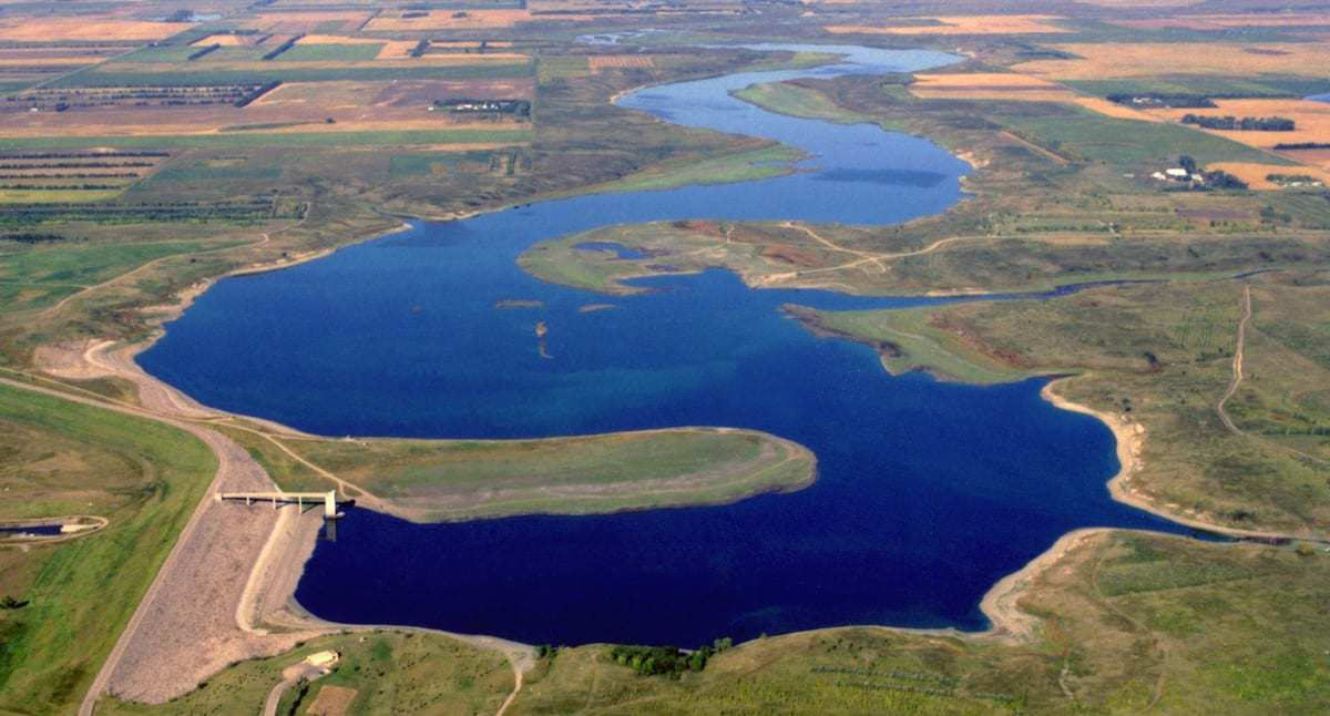 Jamestown and Pipestone reservoir ND