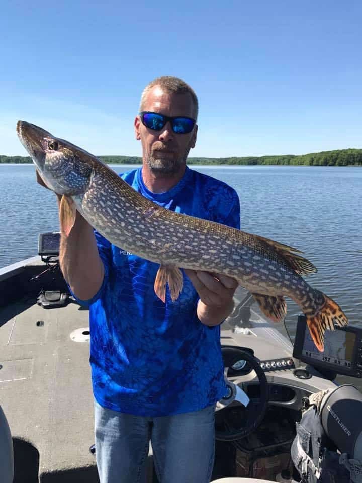 Todd Holzer with a nice pike