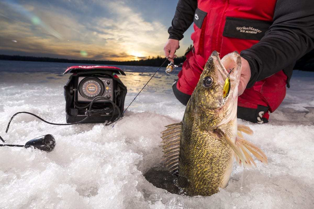 Angling buzz fishing tips trends midwest fishing for Ice fishing walleye videos