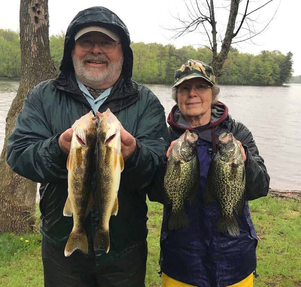 John and Donna WIlhorn with a few nice walleyes and crappies