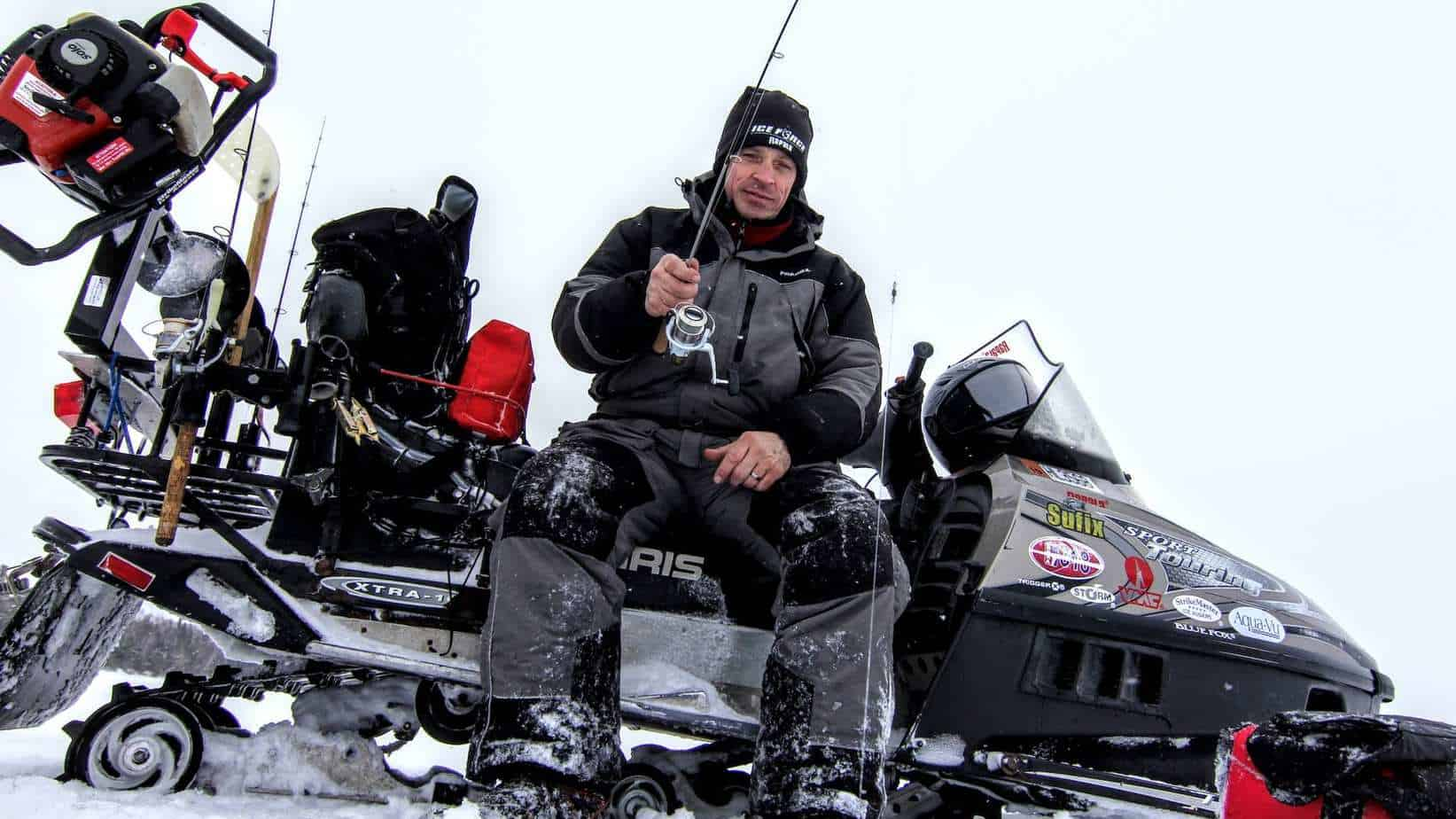Make your Snowmobile a FISHING MACHINE