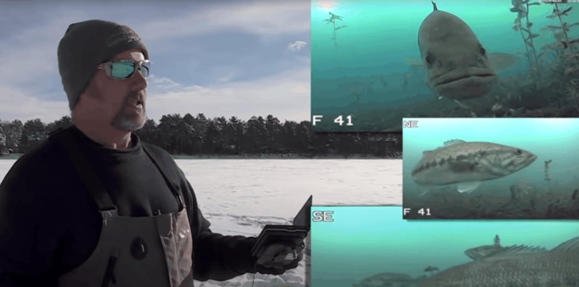 ice fishing largemouth