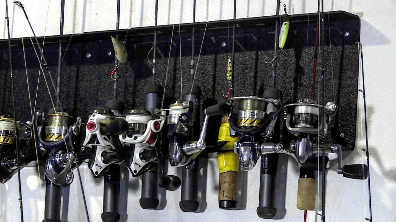 Rod Rack Mounts In Fish Houses