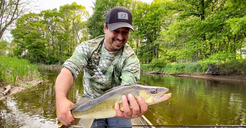 Hayward Wisconsin river walleye